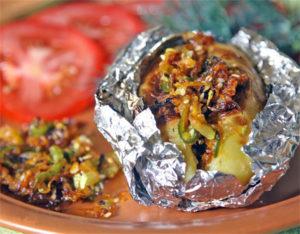 картошка с грибами в фольге в духовке