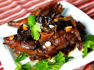 Мясо с медом в духовке